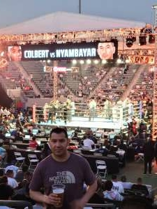 Christian  attended Premier Boxing Champions - Colbert vs. Nyambayar on Jul 3rd 2021 via VetTix