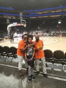 Leslie  attended Phoenix Mercury vs. Los Angeles Sparks - WNBA on Jun 27th 2021 via VetTix