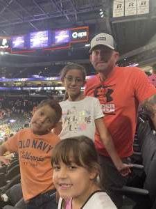 Kent E. attended Phoenix Mercury vs. Los Angeles Sparks - WNBA on Jun 27th 2021 via VetTix