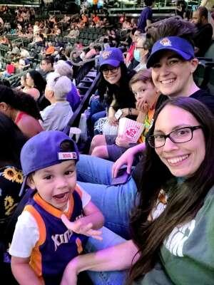 Danielle M attended Phoenix Mercury vs. Los Angeles Sparks - WNBA on Jun 27th 2021 via VetTix