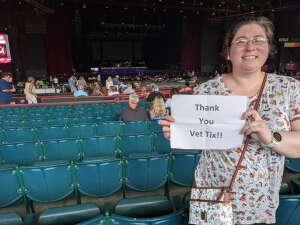 Nicole attended An Evening With Chicago and Their Greatest Hits on Jul 17th 2021 via VetTix