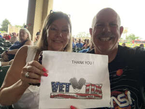 Barry &Sharon Riley  attended An Evening With Chicago and Their Greatest Hits on Jul 17th 2021 via VetTix