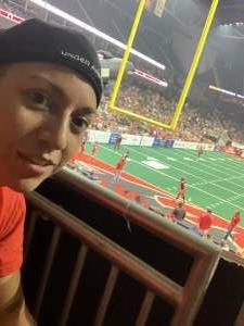 Teresa  attended Jacksonville Sharks vs. Columbus Lions - National Arena League on Jul 17th 2021 via VetTix