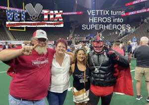 Jax Sharkman attended Jacksonville Sharks vs. Columbus Lions - National Arena League on Jul 17th 2021 via VetTix
