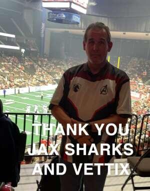 Alan - USN attended Jacksonville Sharks vs. Columbus Lions - National Arena League on Jul 17th 2021 via VetTix