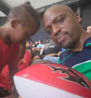 Warren  attended Jacksonville Sharks vs. Columbus Lions - National Arena League on Jul 17th 2021 via VetTix