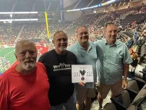John F attended Jacksonville Sharks vs. Columbus Lions - National Arena League on Jul 17th 2021 via VetTix