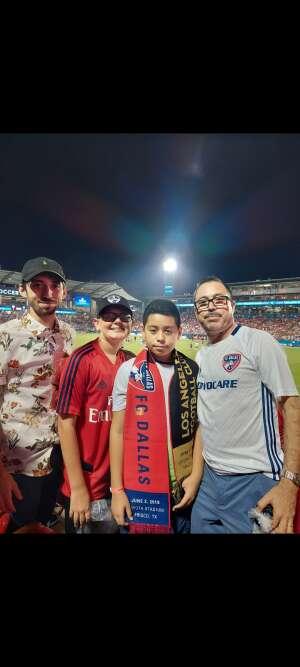 Amadeo attended FC Dallas vs. Vancouver Whitecaps - MLS - Military Appreciation - Fireworks Show! on Jul 4th 2021 via VetTix