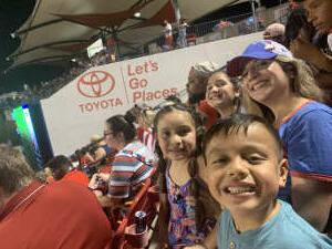 Lopez  attended FC Dallas vs. Vancouver Whitecaps - MLS - Military Appreciation - Fireworks Show! on Jul 4th 2021 via VetTix