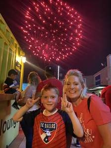 David attended FC Dallas vs. Vancouver Whitecaps - MLS - Military Appreciation - Fireworks Show! on Jul 4th 2021 via VetTix
