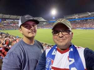 Garcia's attended FC Dallas vs. Vancouver Whitecaps - MLS - Military Appreciation - Fireworks Show! on Jul 4th 2021 via VetTix