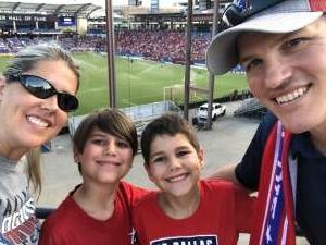 Family 4th at the FC Dallas game  attended FC Dallas vs. Vancouver Whitecaps - MLS - Military Appreciation - Fireworks Show! on Jul 4th 2021 via VetTix