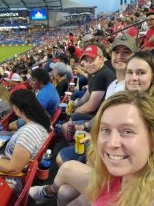 Katie attended FC Dallas vs. Vancouver Whitecaps - MLS - Military Appreciation - Fireworks Show! on Jul 4th 2021 via VetTix