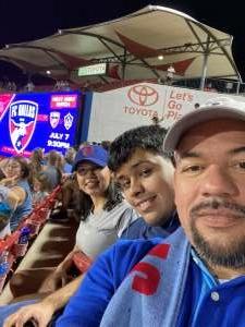 Carlos attended FC Dallas vs. Vancouver Whitecaps - MLS - Military Appreciation - Fireworks Show! on Jul 4th 2021 via VetTix