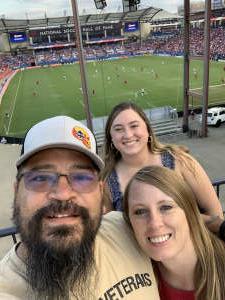 Jose attended FC Dallas vs. Vancouver Whitecaps - MLS - Military Appreciation - Fireworks Show! on Jul 4th 2021 via VetTix