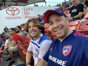 Manny attended FC Dallas vs. Vancouver Whitecaps - MLS - Military Appreciation - Fireworks Show! on Jul 4th 2021 via VetTix