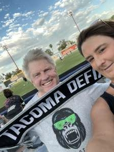Sharon attended Las Vegas Lights FC vs. Tacoma Defiance - USL on Jul 3rd 2021 via VetTix