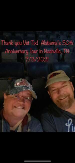 Mike attended Alabama's 50th Anniversary Tour on Jul 3rd 2021 via VetTix