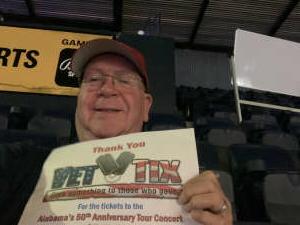Ron attended Alabama's 50th Anniversary Tour on Jul 3rd 2021 via VetTix