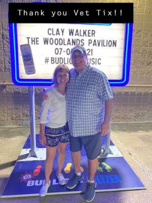 Greg&Melissa attended Clay Walker on Jul 9th 2021 via VetTix