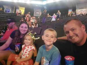 Garnett family  attended Disney on Ice Presents Mickey's Search Party on Aug 12th 2021 via VetTix