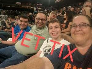 Sebastian attended Arizona Rattlers vs. Sioux Falls Storm on Jul 24th 2021 via VetTix