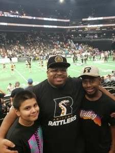 Dilan R attended Arizona Rattlers vs. Sioux Falls Storm on Jul 24th 2021 via VetTix