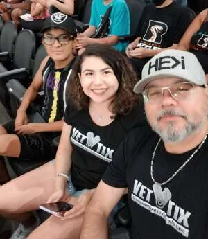 Ramos attended Arizona Rattlers vs. Sioux Falls Storm on Jul 24th 2021 via VetTix