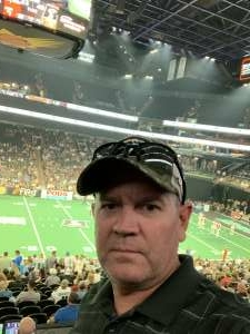 Mark attended Arizona Rattlers vs. Sioux Falls Storm on Jul 24th 2021 via VetTix
