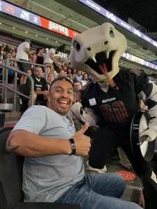 Carlos attended Arizona Rattlers vs. Sioux Falls Storm on Jul 24th 2021 via VetTix