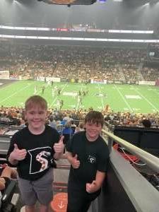 Grose Family  attended Arizona Rattlers vs. Sioux Falls Storm on Jul 24th 2021 via VetTix
