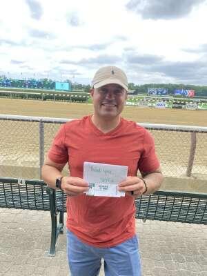 Belmont Park Horse Race attended Belmont Park: Stars & Stripes Racing Festival on Jul 10th 2021 via VetTix