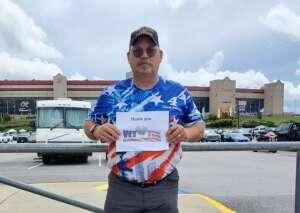 Jim attended Quaker State 400 Presented by Walmart on Jul 11th 2021 via VetTix
