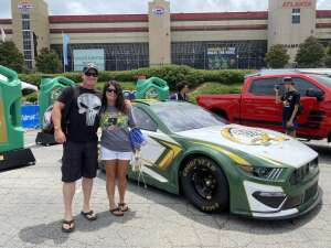 Nathan & Crystal attended Quaker State 400 Presented by Walmart on Jul 11th 2021 via VetTix