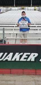 John Hartman attended Quaker State 400 Presented by Walmart on Jul 11th 2021 via VetTix