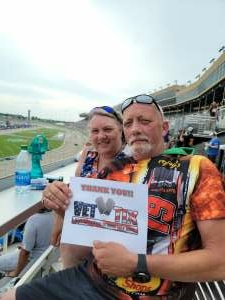 Gene Anders attended Quaker State 400 Presented by Walmart on Jul 11th 2021 via VetTix