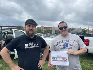 James Jones attended Quaker State 400 Presented by Walmart on Jul 11th 2021 via VetTix