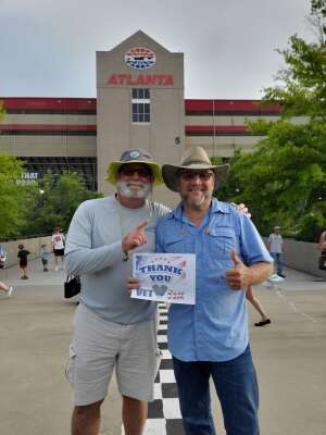 Clifford attended Quaker State 400 Presented by Walmart on Jul 11th 2021 via VetTix