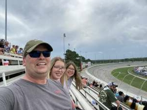 CPT Rongey and family attended Quaker State 400 Presented by Walmart on Jul 11th 2021 via VetTix