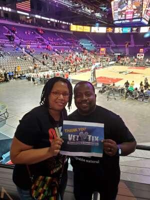 SJ attended Las Vegas Aces vs. Atlanta Dream - WNBA on Jul 4th 2021 via VetTix