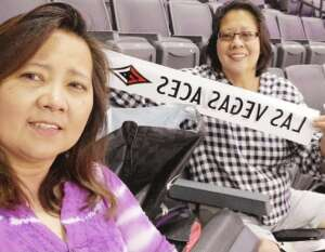 Margarita Palenzuela attended Las Vegas Aces vs. Atlanta Dream - WNBA on Jul 4th 2021 via VetTix