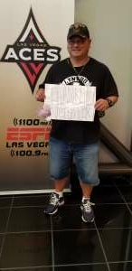 William K Wilson  attended Las Vegas Aces vs. Atlanta Dream - WNBA on Jul 4th 2021 via VetTix