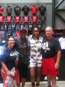 EDGAR GREGORY ANDERSON attended Las Vegas Aces vs. Atlanta Dream - WNBA on Jul 4th 2021 via VetTix