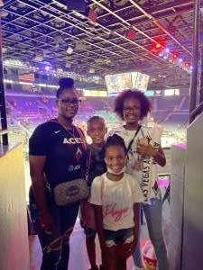 Ashley attended Las Vegas Aces vs. Atlanta Dream - WNBA on Jul 4th 2021 via VetTix