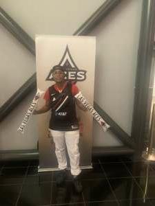 K-Weeks attended Las Vegas Aces vs. Atlanta Dream - WNBA on Jul 4th 2021 via VetTix