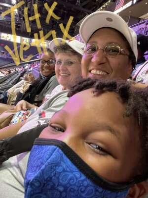 Romona Montgomery attended Las Vegas Aces vs. Atlanta Dream - WNBA on Jul 4th 2021 via VetTix