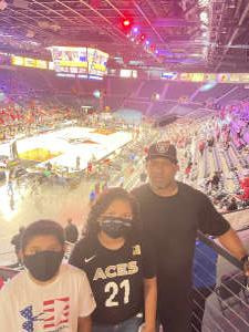 ED attended Las Vegas Aces vs. Atlanta Dream - WNBA on Jul 4th 2021 via VetTix