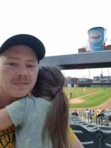 BRYAN AND SOPHIE attended Chicago Dogs vs. Milwaukee Milkmen - MLB Partner League on Jul 14th 2021 via VetTix