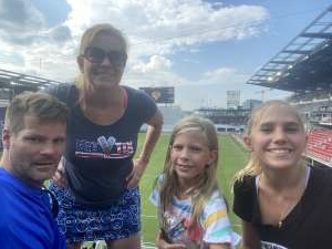 Laurine Payne attended Capital Cup: DC United International Doubleheader (day 2 of 3) on Jul 11th 2021 via VetTix