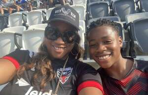 KD attended Capital Cup: DC United International Doubleheader (day 2 of 3) on Jul 11th 2021 via VetTix